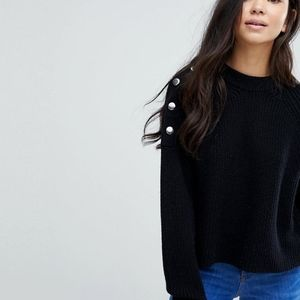 New Look Button Sweater